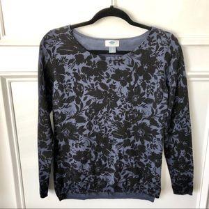 Pretty Blue Floral Sweater